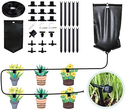 Amazon.com : Drip Irrigation System, Automatic Garden Tree Watering System  with 10L Water Bag Adjustable Drippers Irrigation Kit for Garden,  Greenhouse, Patio, Lawn, 33ft/10m DIY Watering Devices : Garden & Outdoor
