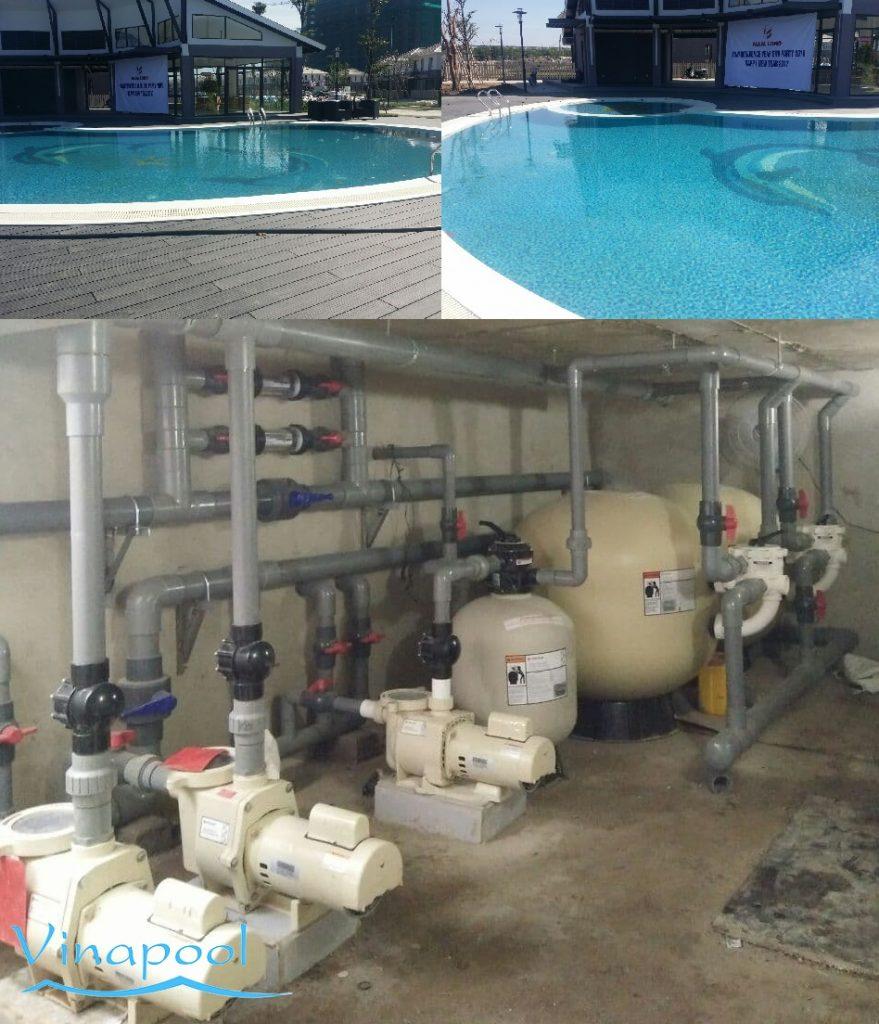 Hệ thống lọc hồ bơi khu dân cư Fuji