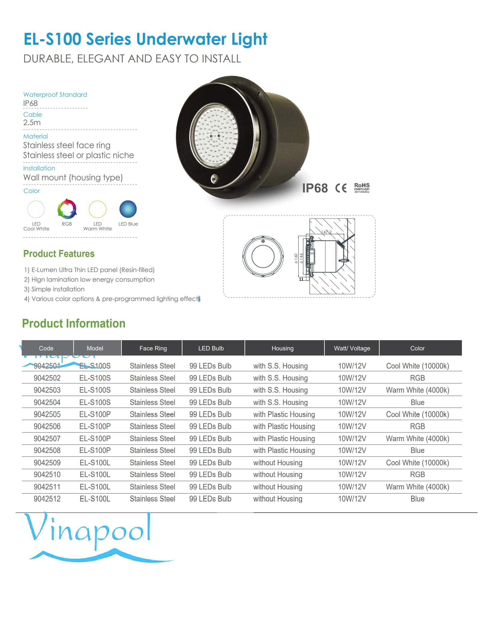 VianPool el-s100-emaux-lighting-s100