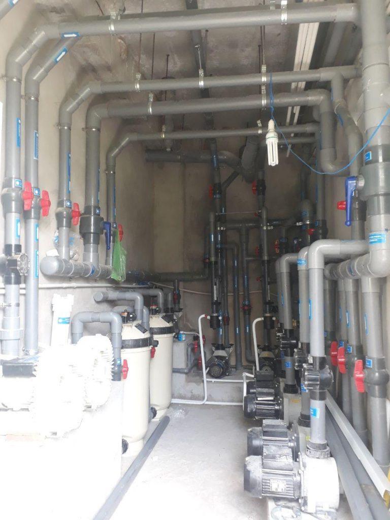 Phòng máy hệ thống hồ jacuzzi, Hồ Thủy lực