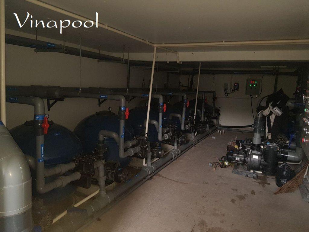 Phòng máy hồ bơi dịch vụ khu dân cư Vạn Phúc