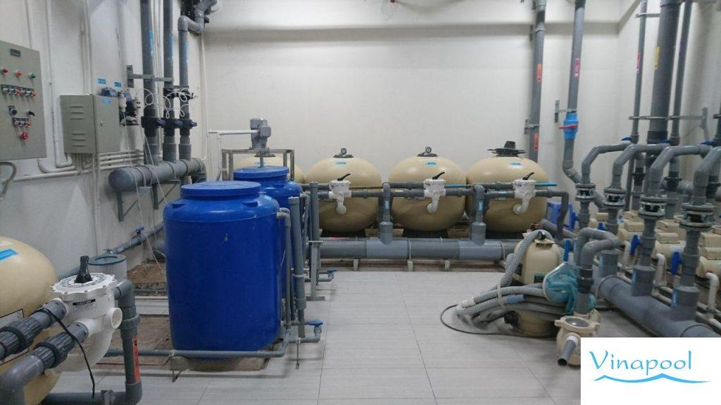 Phòng máy hệ thống thống lọc nưỡ hồ bơi Jamila