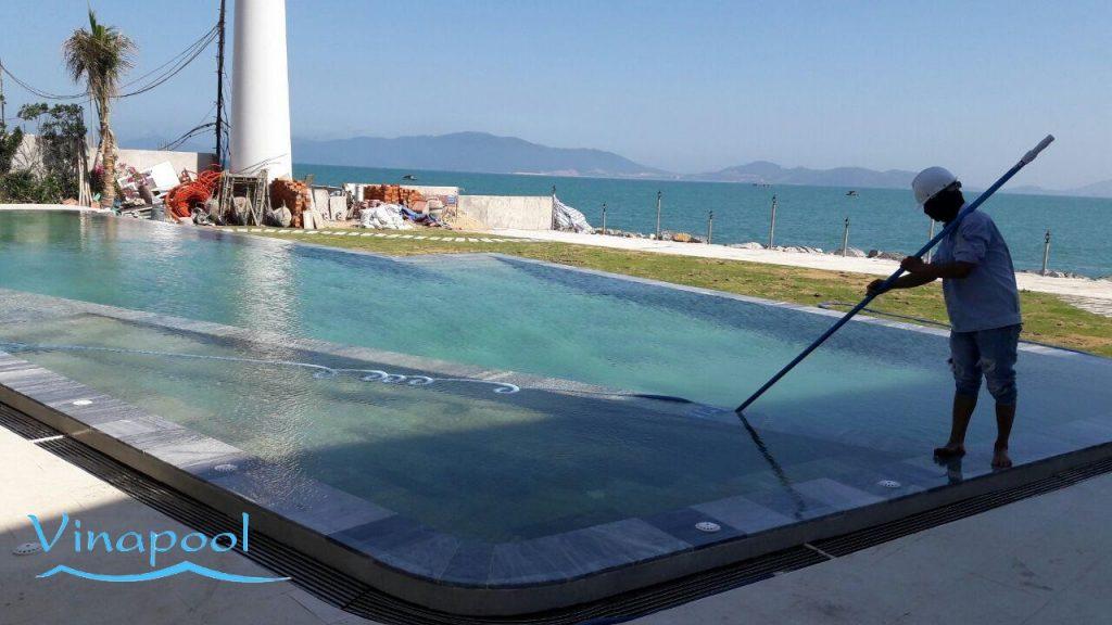 Hồ bơi Nhà Hàng  Thái MP, Vinapool Thi công hồ bơi tại Nha Trang