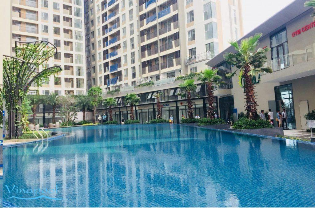Hồ bơi khu dân cư Tại Hồ Chí Minh, Vinapool thiết kế và thi công hệ thống lọc