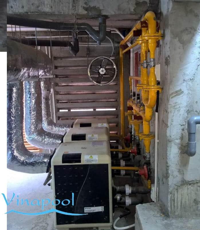 VianPool Hệ thống nước nóng hồ bơi bằng Gas/LPG