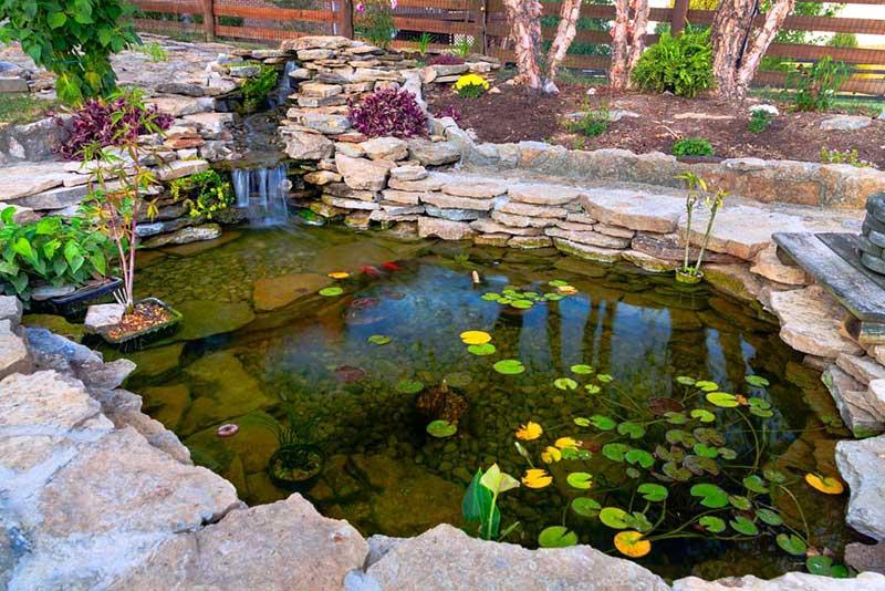VianPool flagstones-pond