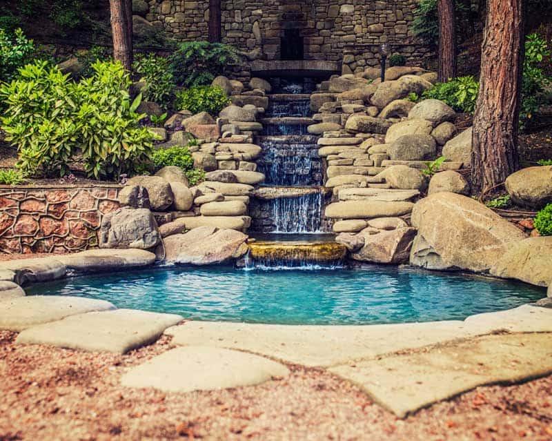 VianPool multi-tiered-waterfall-pond