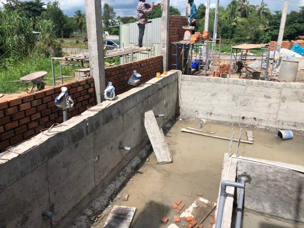 Công tác thi công hệ thống đường ống hồ bơi
