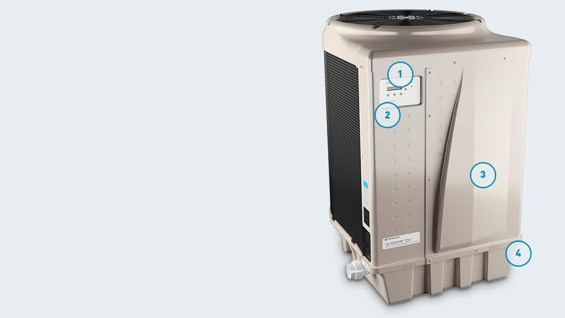 Pentair UltraTemp high performance pool and spa heat pump features and components meet or exceed existing codes and standards.