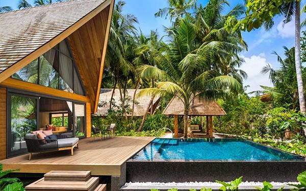 Biệt thự có bể bơi ngoại cảnh đẹp