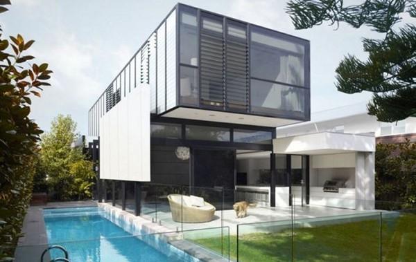 Biệt thự hiện đại với hồ bơi kích thước nhỏ
