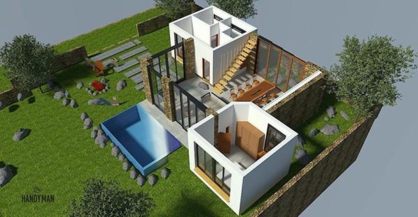 Biệt thự nhà vườn có bể bơi