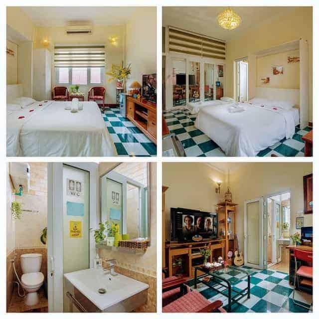 Các món nội thất và phụ kiện trong Homestay đều nhỏ xinh mang lại hiệu ứng thẩm mỹ tốt