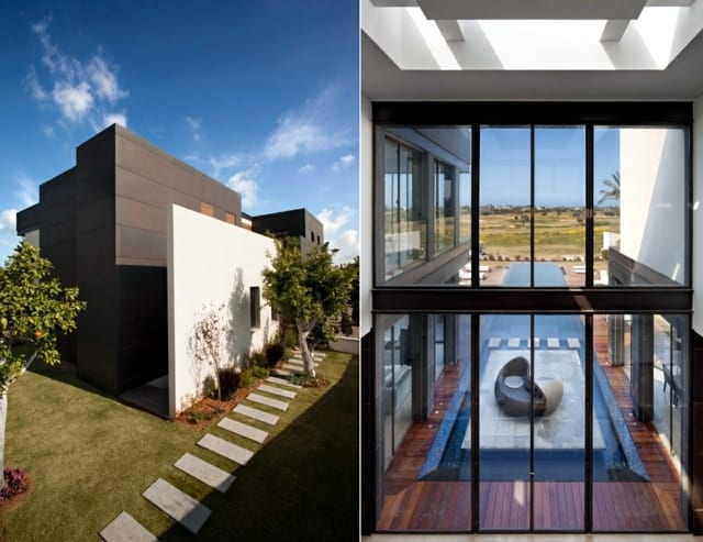 Modern house with pool promises a good time outdoors