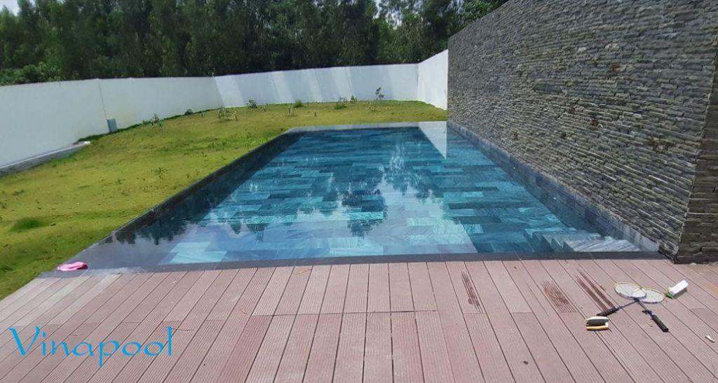 Hồ bơi Gia đình thiết kế hệ thống lọc mương tràn