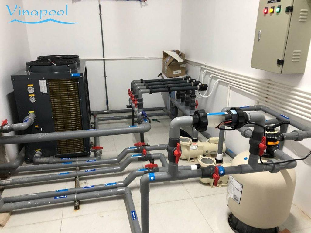 Hệ thống lọc hồ bơi Vinapool thiết kế lắp đặt