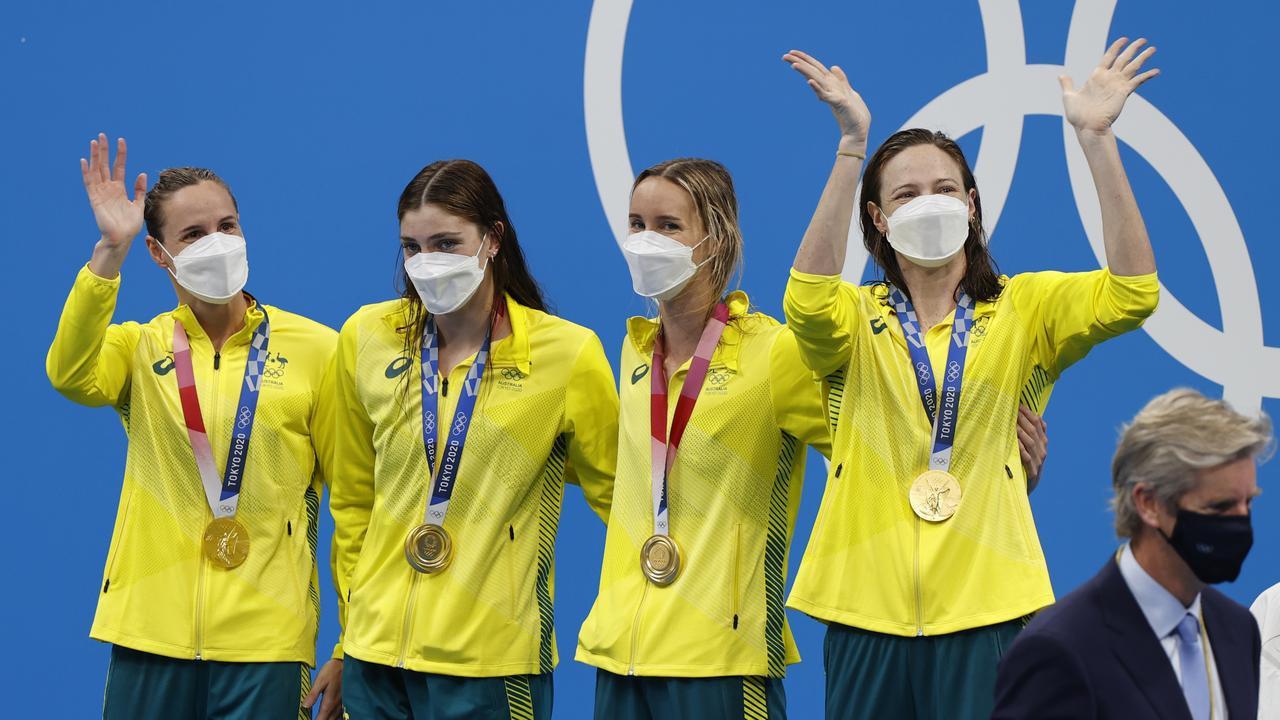Đội nữ bơi lội Úc phá kỷ lục thế giới với thành tích lịch sử ở Olympic Tokyo - ảnh 1