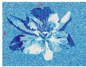Gạch mosaic thủy tạo tranh bông hoa